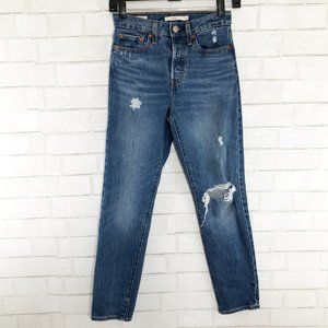 Levi's High Rise Wedgie Tapered Leg Jeans Size 24